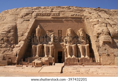 Abu Simbel Temple of Ramesses II, Egypt - stock photo