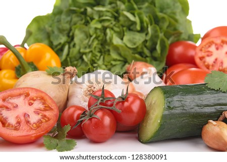 abundance of vegetables