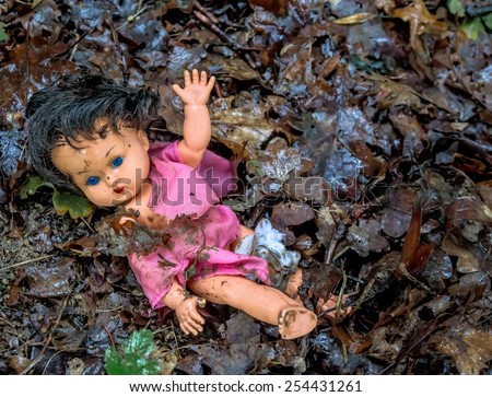 abuse of children as a symbol photo. child abuse and family violence - stock photo