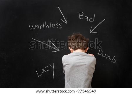 Words Hurt Background Abusive Words Hurt Stock