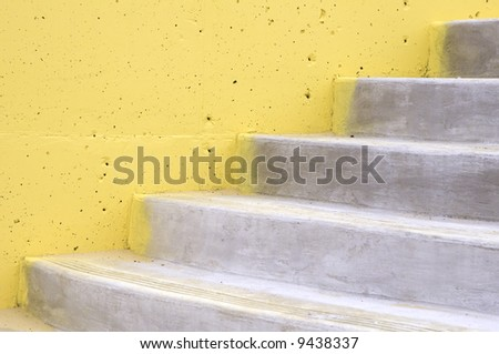 Abutment Concrete Steps Pockmarked Yellow Wall Stock Photo (Safe to ...