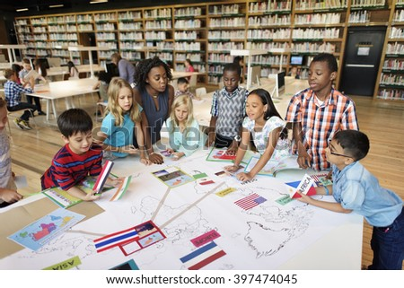 Academic School Children Learning Elementary Concept - stock photo