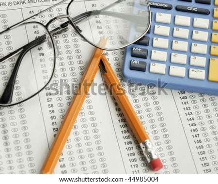 academic testing - stock photo
