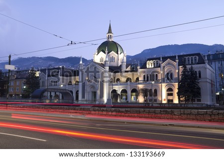 Academy of Fine Arts, Sarajevo - Bosnia and Herzegovina - stock photo