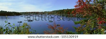 Acadia National Park in Autumn, Maine - stock photo
