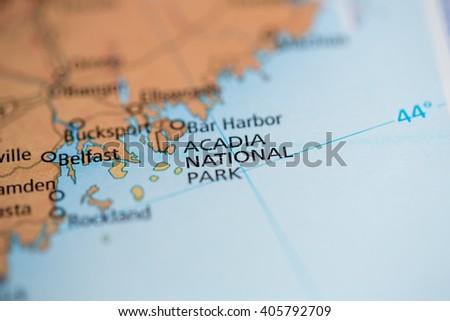 Acadia National Park. Maine. USA - stock photo
