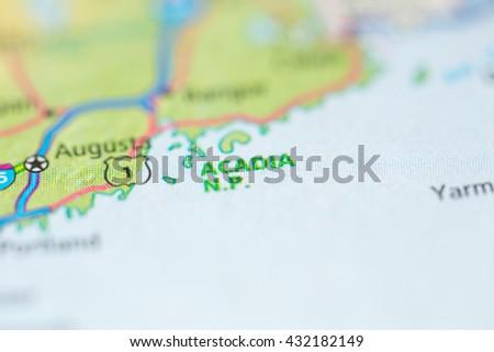 Acadia National Park. USA - stock photo