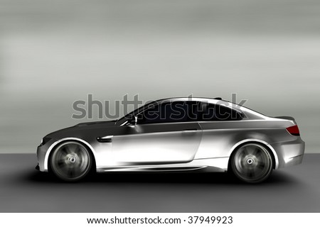 Acceleration - Silver Executive Business Car - stock photo