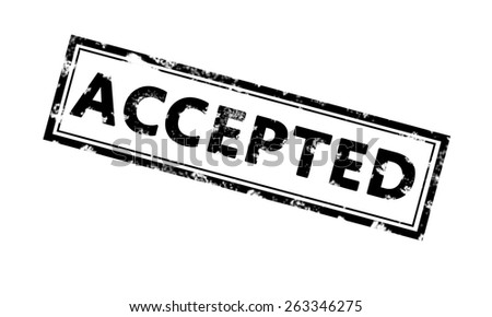 Accepted rubber stamp. Black Color. Stock Photo - stock photo
