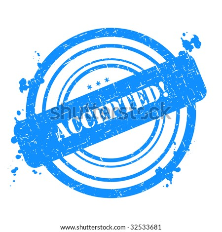Accepted stamp graphic illustration isolated on white background - stock photo