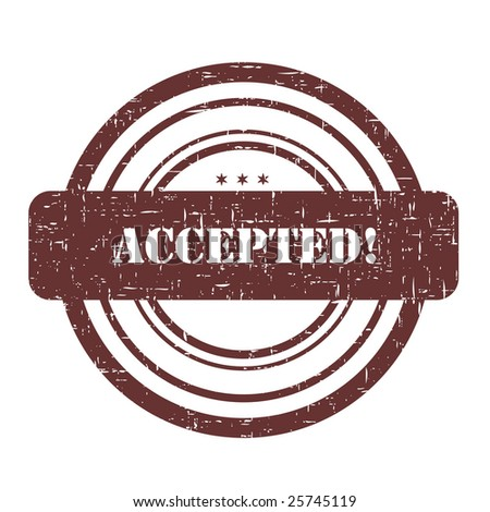 Accepted stamp illustration isolated on white - stock photo