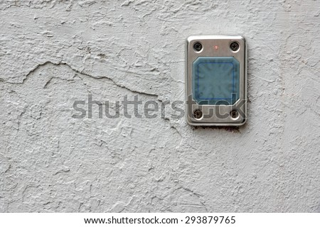 Access Control Card Reader On The Wall Close-up - stock photo