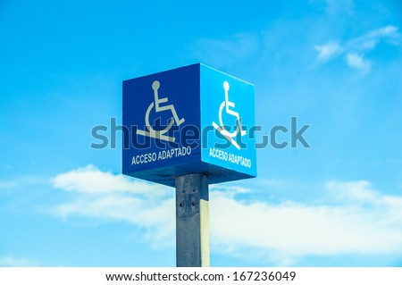 access for the disabled - stock photo