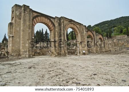 Access gate to the city of Medina Azahara - stock photo