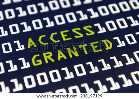 Access granted - Internet login - stock photo