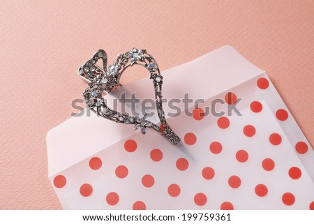 Accessories And Envelope Of Red Dot