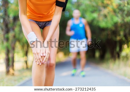 Accident, ache, athlete. - stock photo