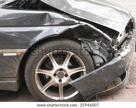accident damage - stock photo