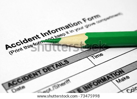 Accident information form - stock photo