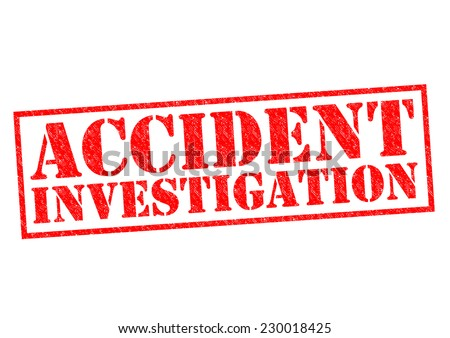 ACCIDENT INVESTIGATION red Rubber Stamp over a white background. - stock photo