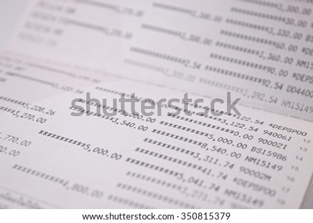 account book. selective focus for background bussiness concept
