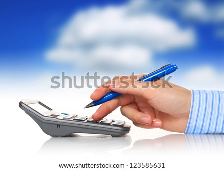 Accountant. - stock photo