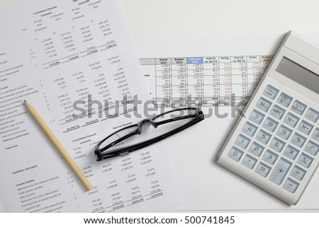 Accountant analysis profit and Loss, business, account concept.