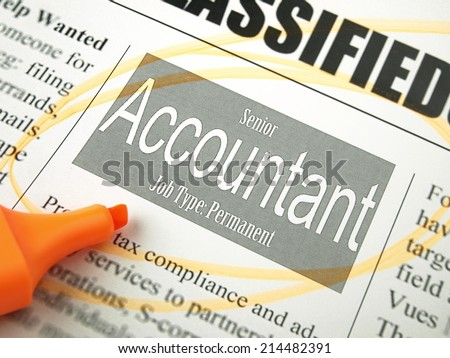 Accountant (Classified Ads)  - stock photo