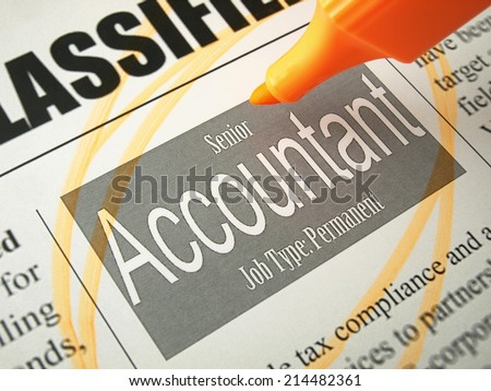 Accountant (job search)  - stock photo