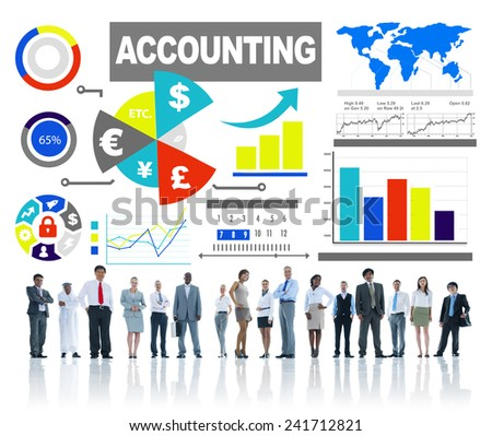 Accounting Analysis Banking Business Economy Financial Investment Concept - stock photo
