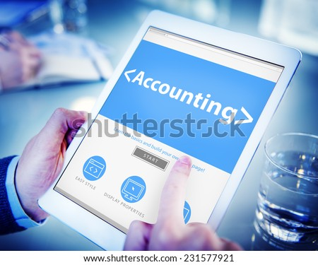 Accounting Budgeting Financial Service Ananlysing Concepts - stock photo