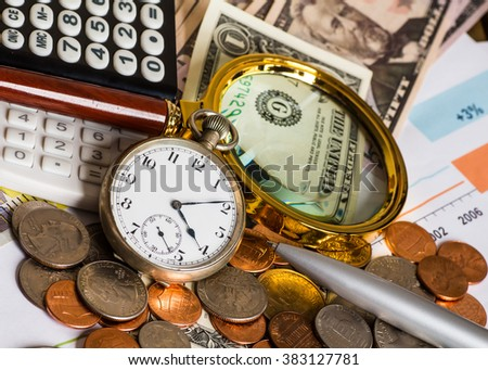 accounting, business strategy - stock photo
