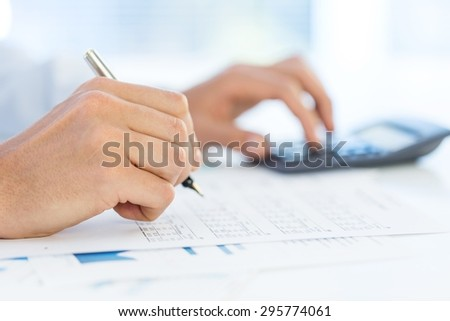 Accounting, concept, price. - stock photo