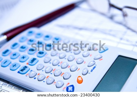 Accounting financial management and statistics or earnings research concept - stock photo