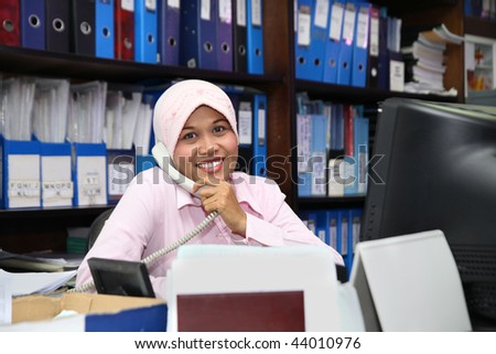 accounting in office - stock photo