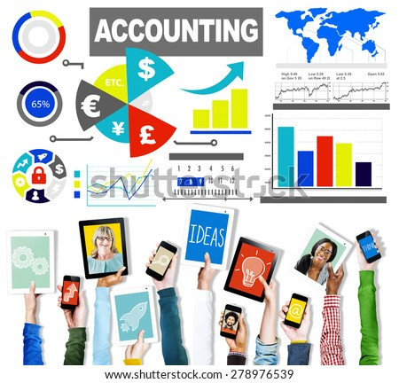 Accounting Investment Expenditures Revenue Data Report Concept - stock photo