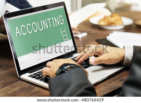 Accounting Online Banking Financial Concept