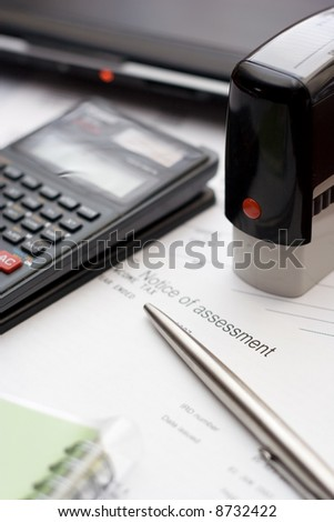 Accounting Tools Typical Business Table Setting