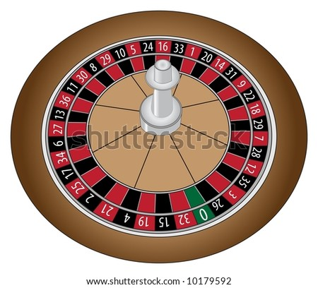 Accurately numbered wooden roulette wheel