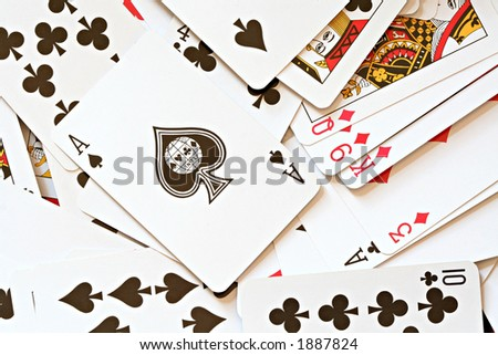 Ace of Spades - stock photo