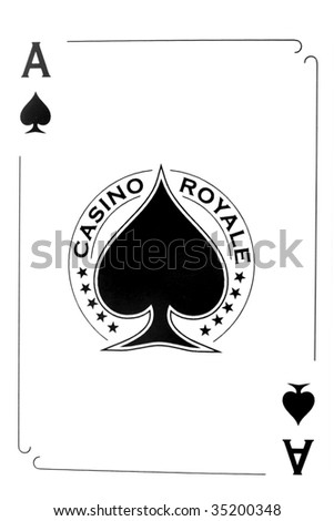 Ace of spades isolated on white - stock photo