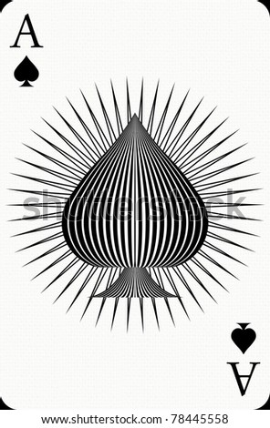 Ace poker card - stock photo