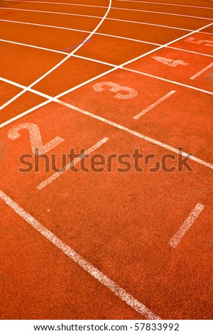 ace track lanes curve detail for background sports concepts - stock photo
