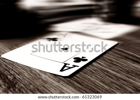 aces high on the table - stock photo