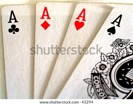 Aces in a deck of Cards - stock photo
