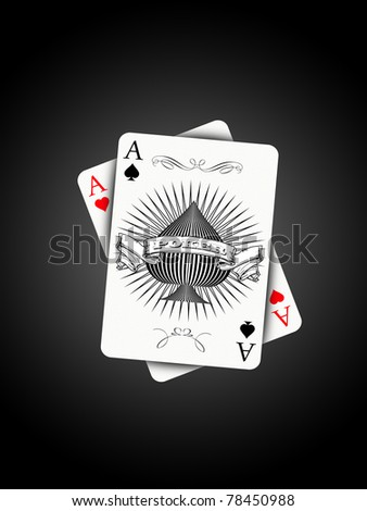 Aces on light effect - stock photo