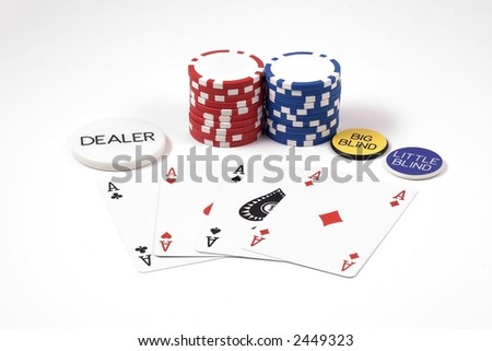 Aces & poker Chips