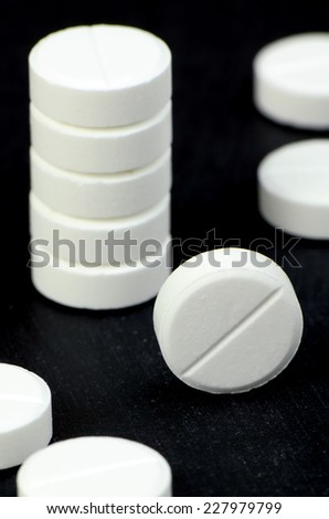 Acetaminophen or Paracetamol, Medicine for Relief Pain or Fever. - stock photo