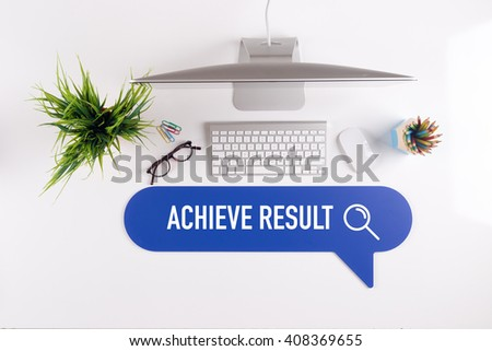 ACHIEVE RESULT Search Find Web Online Technology Internet Website Concept - stock photo