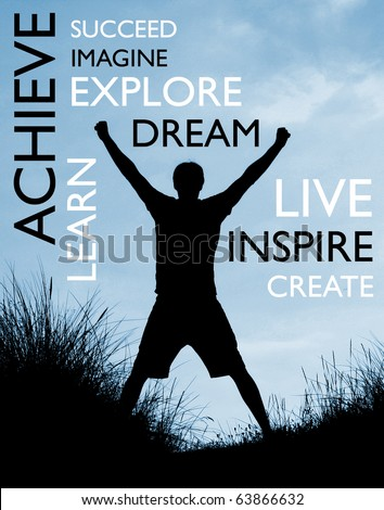 Achieve success - stock photo